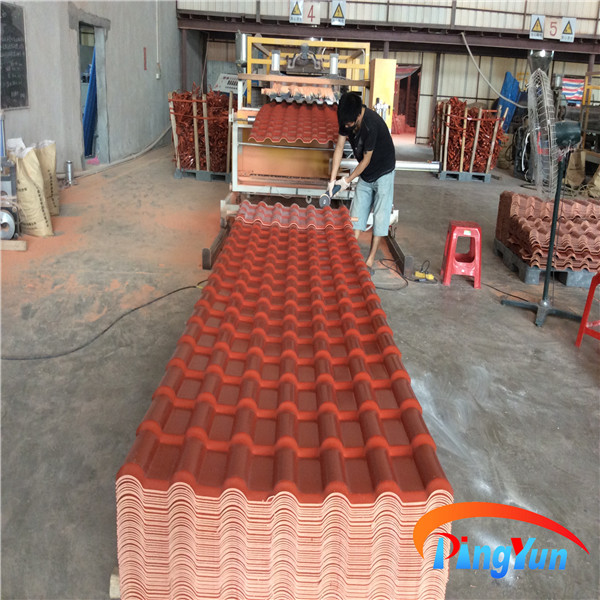 Spanish Style Roof Tiles Synthetic Terracotta Tile Bamboo For Villa