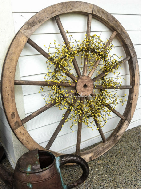 Antique wooden wagon wheel for chandelier diy buy wooden for Diy wagon wheel