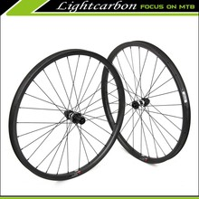 LIGHTCARBON Carbon Fiber Mountain Bike Wheels 350S-27.5-33S Offset Rims 27.5er Wheelset Hookless