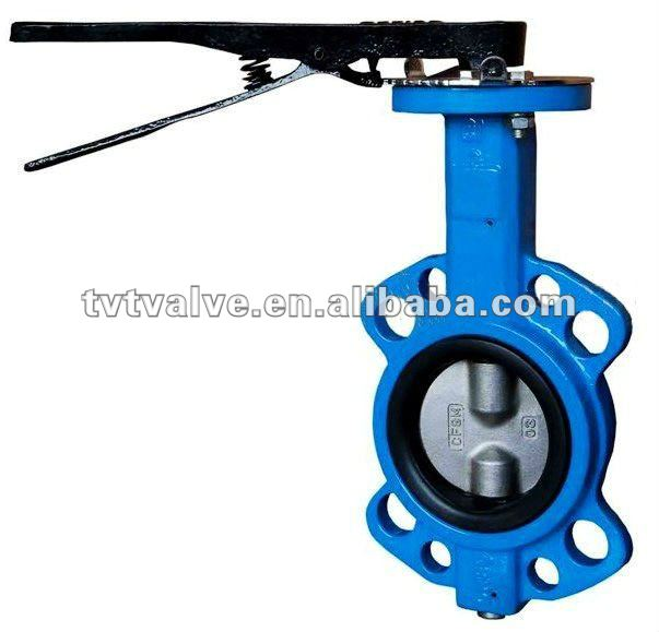 Manual Wafer Butterfly Valve wothout pin