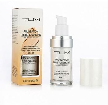 30ml TLM Color Changing Liquid Foundation Makeup Change To Your Skin Tone By Just Blending dropshipping