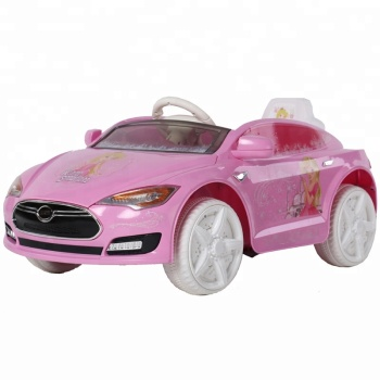 Pink Remote Control Electric Car Kids Toys Battery