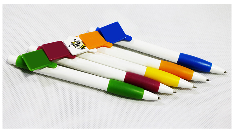 Wholesale logo printing promotional plastic ballpoint pen with cap
