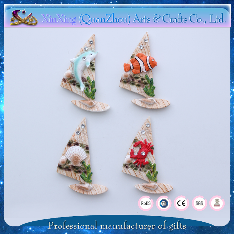 boat shape gifts 3d resin magnet fridge online