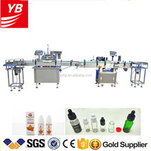 Fully Automatic vial glass spray bottle filling line, message essential oil filler and plugger and capper