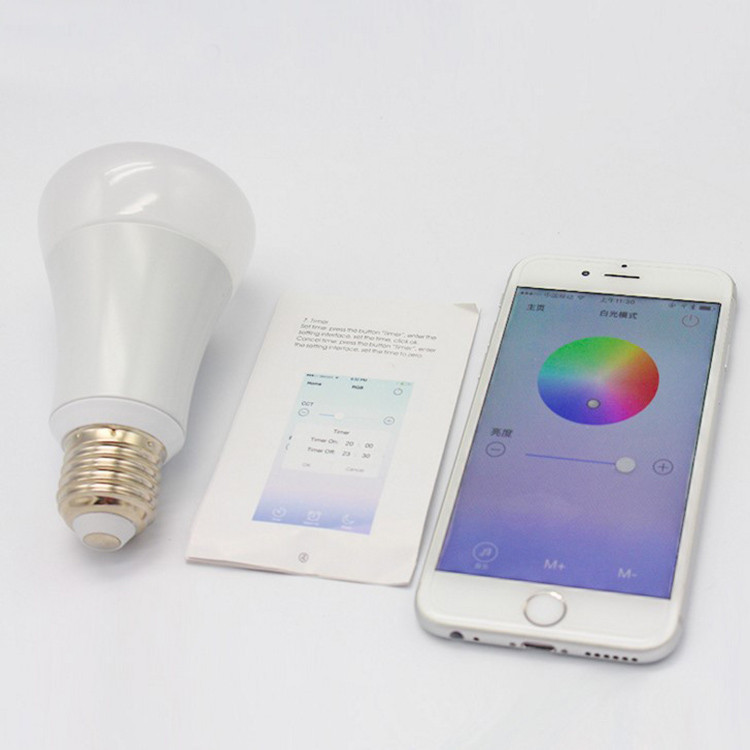 Smart Original Mi Light Bluetooth Bulb 4.0 Smartphone App Remote Control Light 6w E27 Rgbw Color Room Lamp