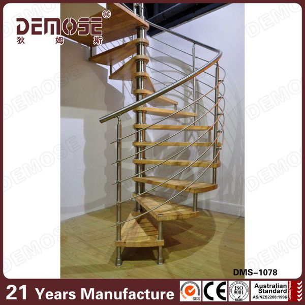 acrlico escalera barandilla para escaleras interiores con paso de madera