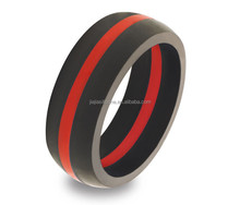 Soft and casual fake ring unfading plastic silicone finger ring