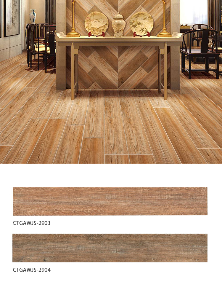 200*1000  wooden texture grain ceramic tile wood plank wood like porcelain tile