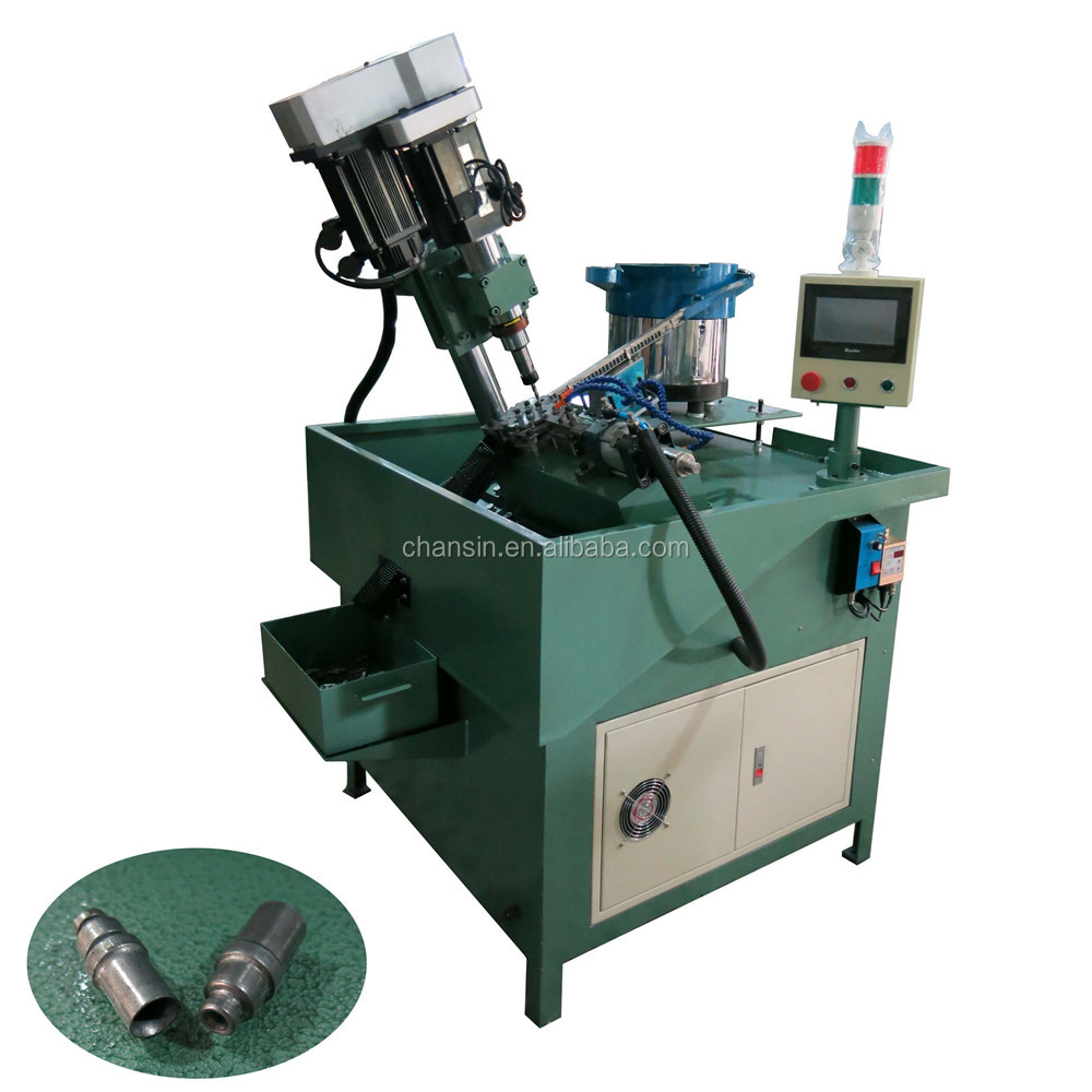 Fully automatic nuts drilling and tapping machine with servo motor cnc control