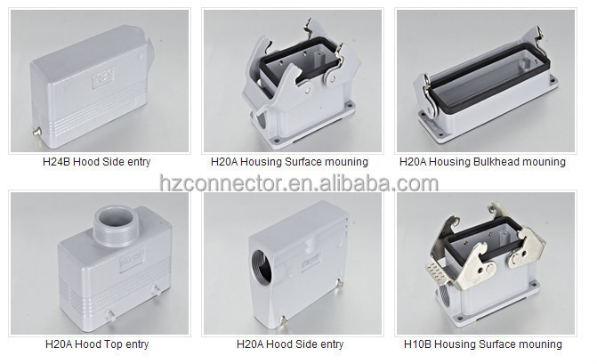 Power heavy duty connector HEE-092 Harting type