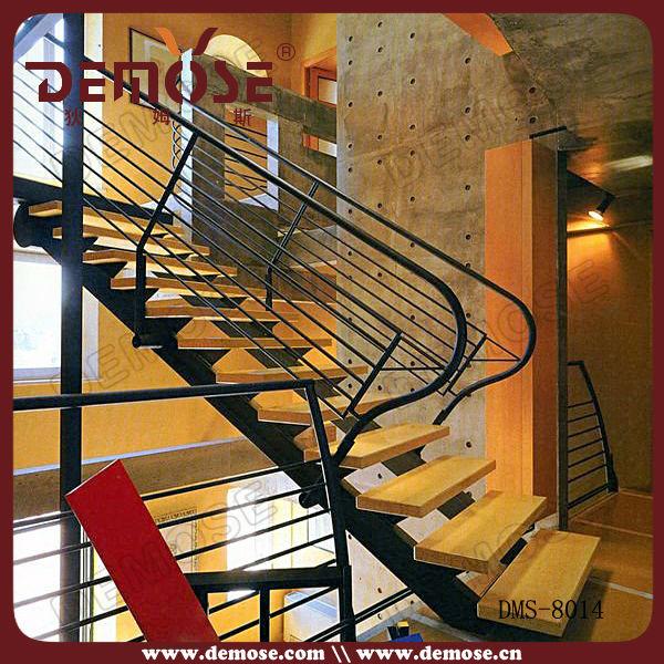 Casa escaleras diseño/elegante de madera sólida escaleras escalera ...