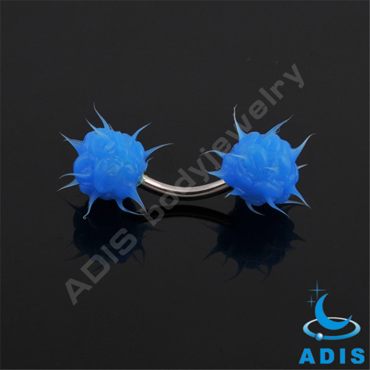 Different Color Silicon Stainless Steel Eyebrow Ring Piercing