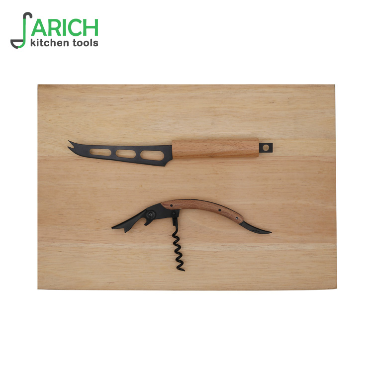 (JYKS-E037) Wholesale wooden handle Cheese Knife Set