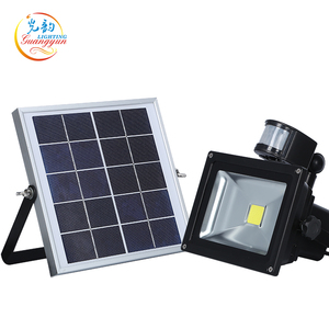 Portable ip65 outdoor security 10w 20w 30w 50w solar motion sensor flood light
