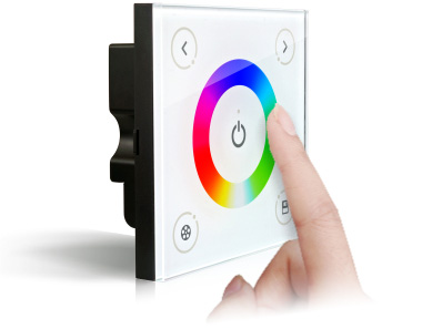 Wall Dmx Dimmer Switch For Single,Dual Color,Rgb Led Lghts