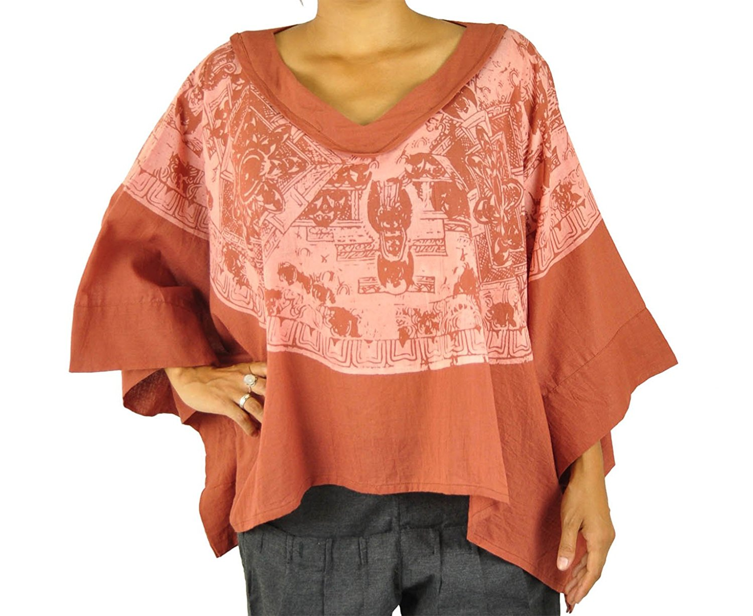 8690ea00bf Get Quotations · virblatt batwing top as hippie clothes for women - Namasté