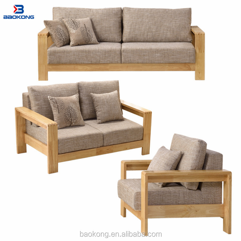 Modern Rubber Wood Combination Sofa Set With Fabric Upholstery Seat - Buy  Solid Wood Sofa Set,Modern Wooden Sofa Set,Modern Classic Sofa Set Product  ...