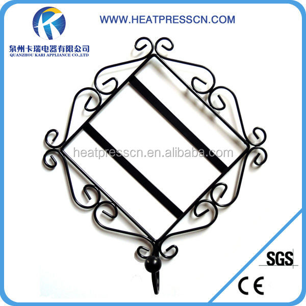Metal frame with ceramic tile for sublimation