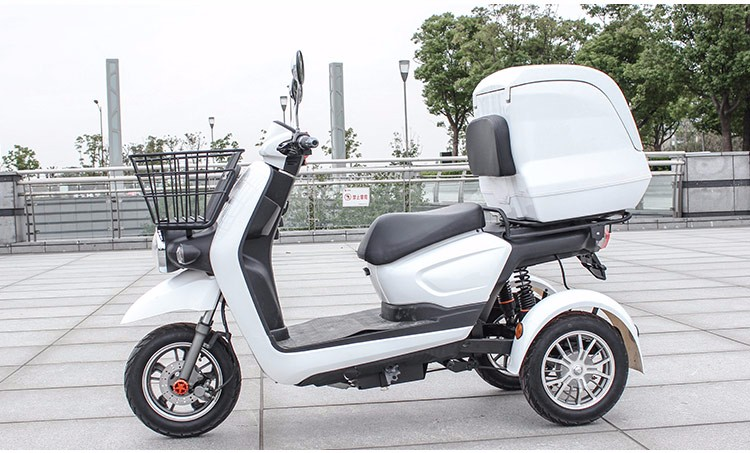 High Quality 3 three wheel bicycle for adults electric scooter bike for food delivery