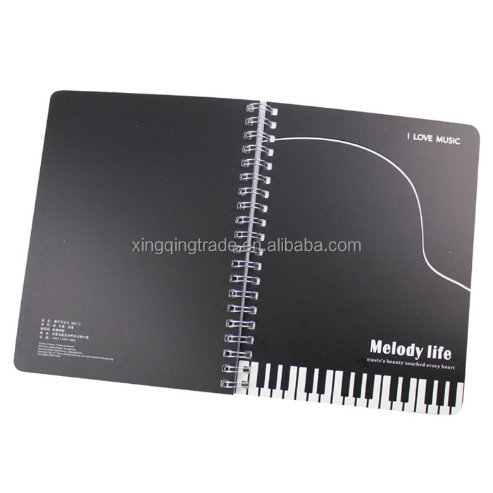 The notes piano keyboard 32k notebook notepad diary music stationery