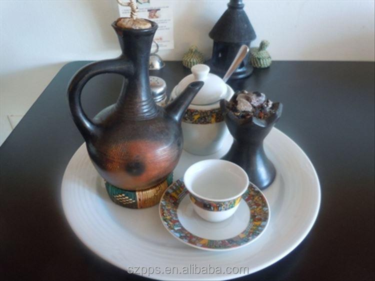 Ethiopian Jebena Art Traditional Coffee Set sheba coffee cups set 16