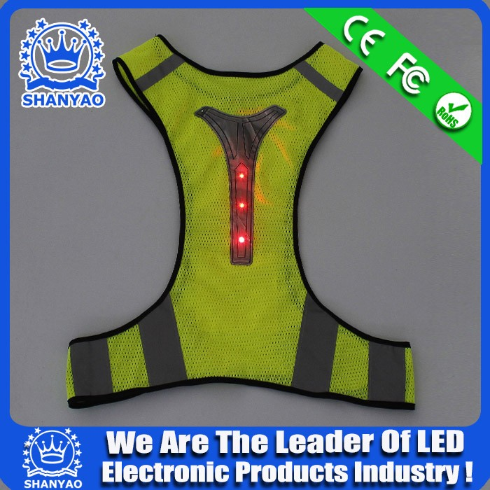 night vision China supplier flash led light safe vest