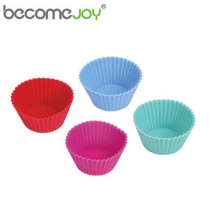 Manufacture custom silicone round cup cake bake cupcake baking molds