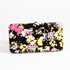 Women Flora Pattern Metal Frame Flat Wallet Credit Card Holder Case