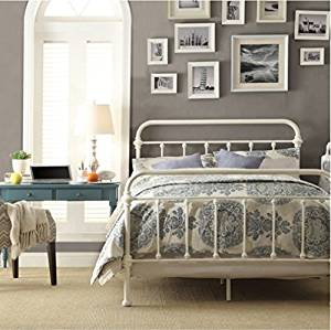Get Quotations Inspire Q Giselle Antique White Graceful Lines Victorian Iron Metal Bed