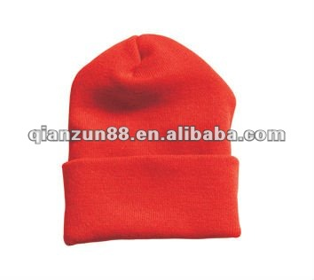 Polyester beanie hats spandex beanie hats