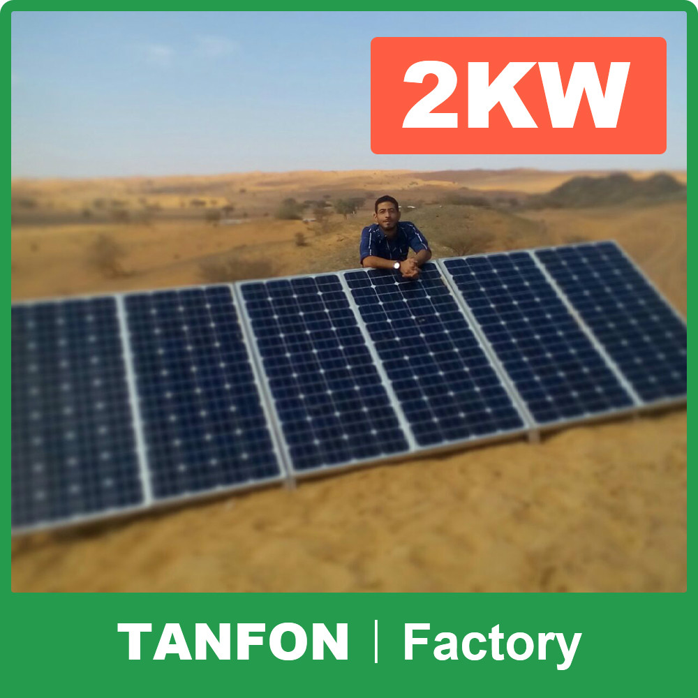 solar power system for homes pv solar panel 2kw 2000w off grid solar system <strong>kit</strong> for Pakistan