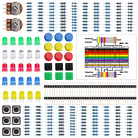Electronics component pack with resistors, LEDs, Potentiometer for Uno r3 Starter Kit