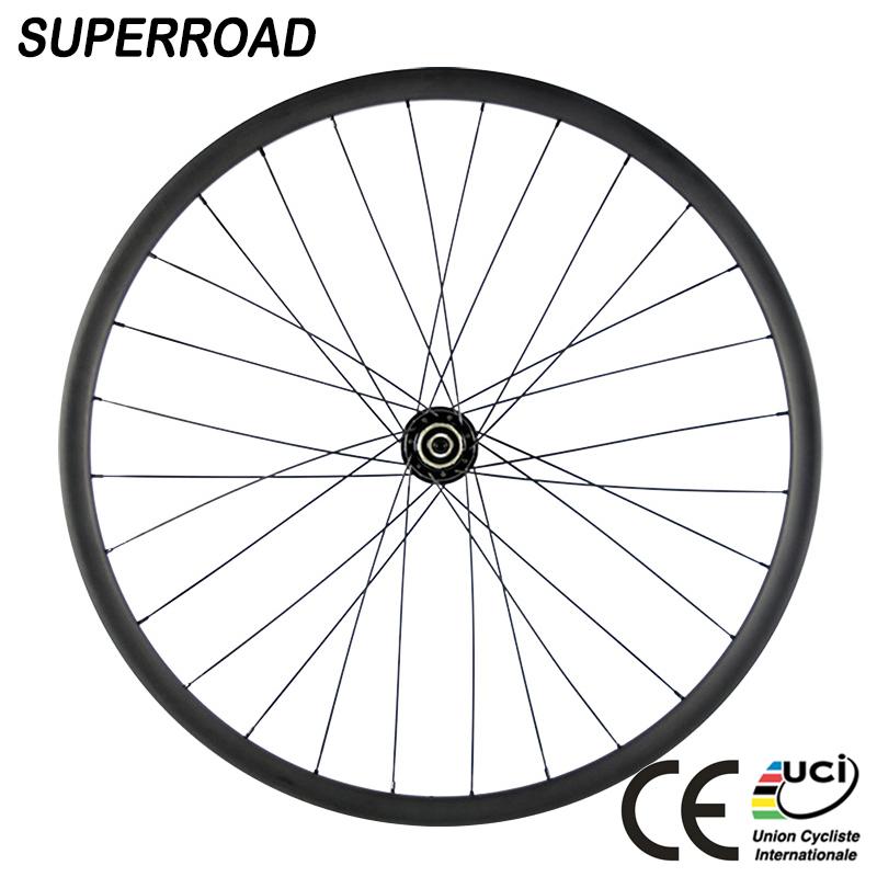 60mm Tubeless Carbon Wheels 25mm Width Cyclocross Bike Wheelset Novatec 271 Hub