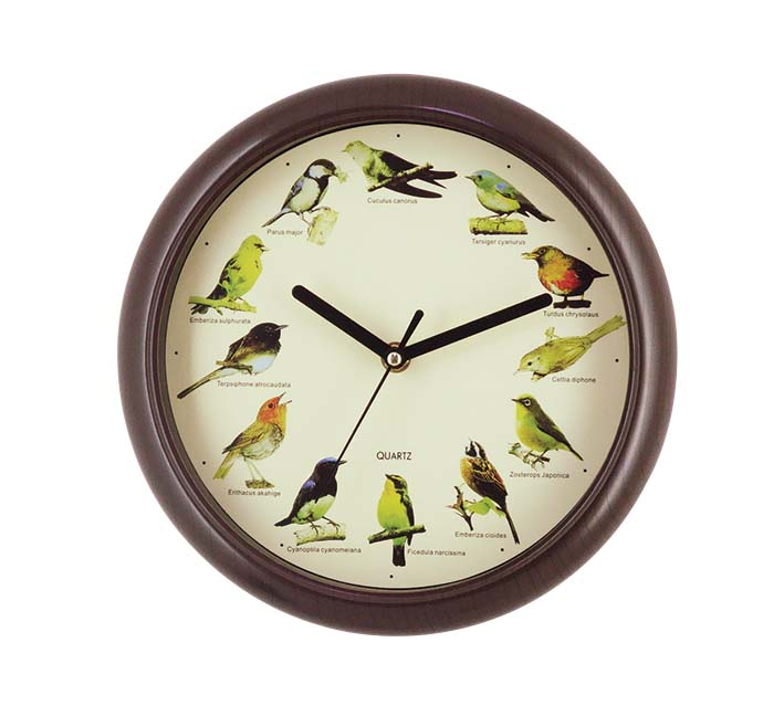 Japan birds sound musical wall clock