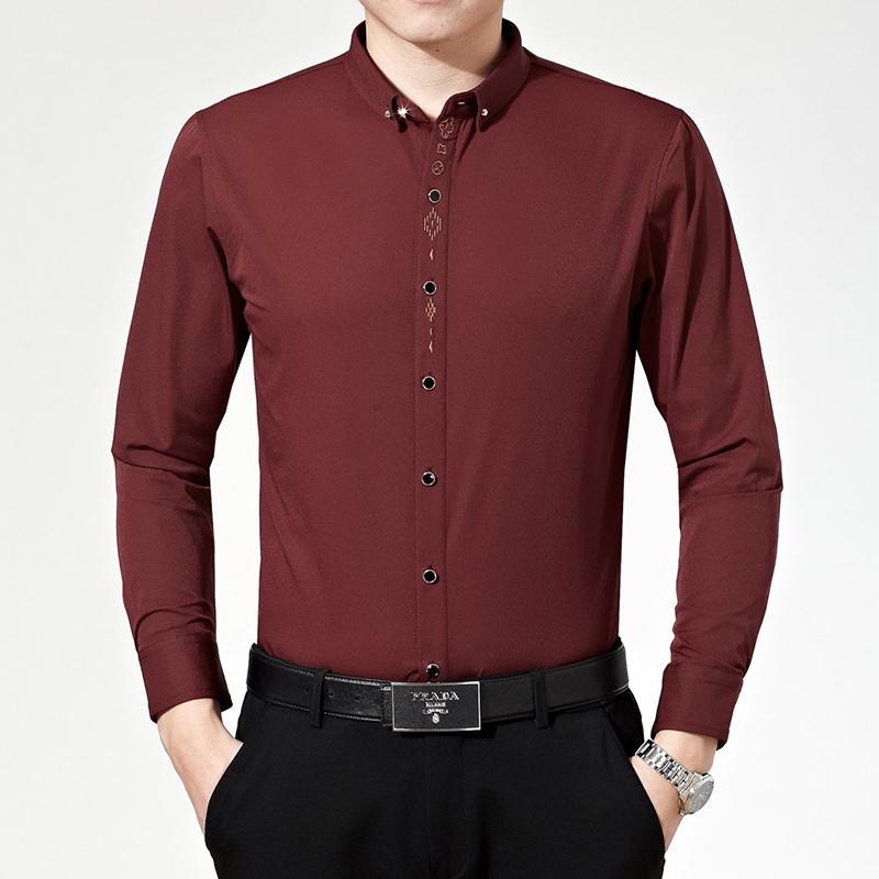 Мужчины рубашки длинная длинными рукавами хлопок camisas хомбре рубашки 100% мерсеризованный хлопок camisa социальной