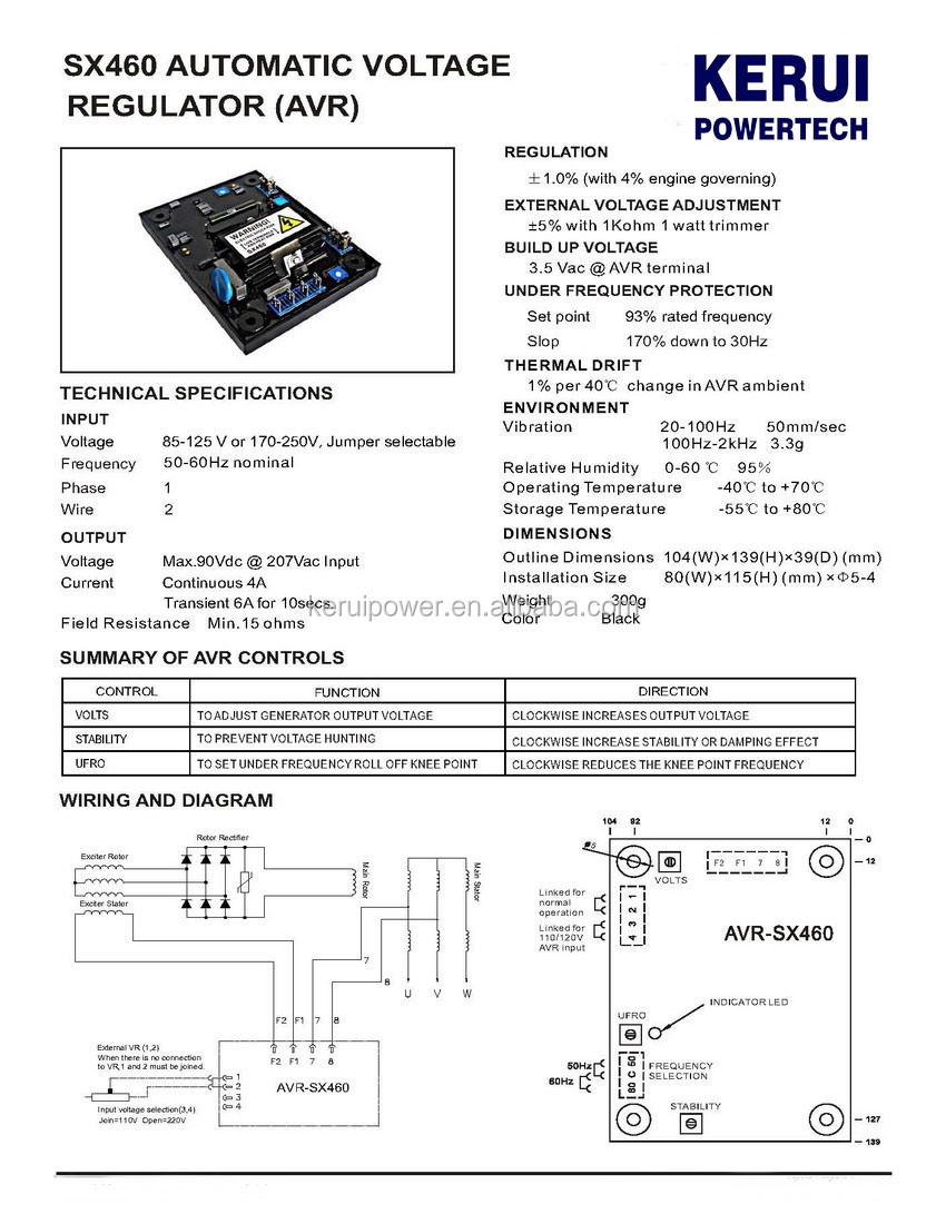 For Newage Stamford Generator Nupart Avr Sx460 Buy Sx460