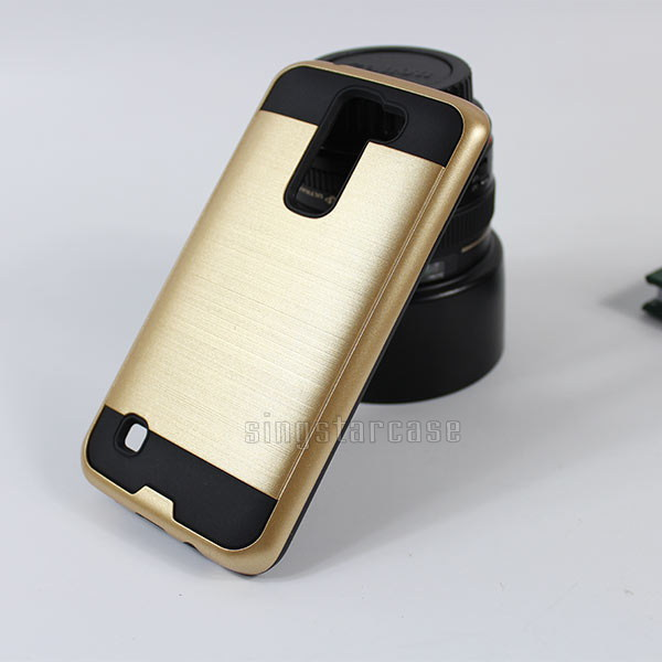 Top Selling TPU+PC Hair Line Phone Cover Hybrid Case For LG Tribute 5