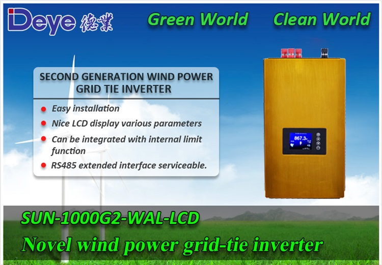 Modernes Design 1000W Wind Power Grid Tie Inverter für 3 Phase 24v 48v Windturbinengenerator