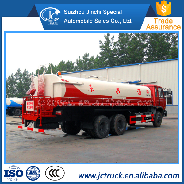 2015 Hot sale 6x4 20m3 tanker water truck via dongfeng