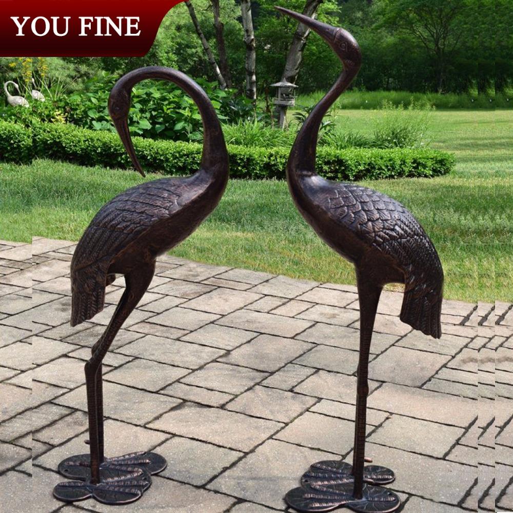 Bronze Crane Statue, Bronze Crane Statue Suppliers And Manufacturers At  Alibaba.com