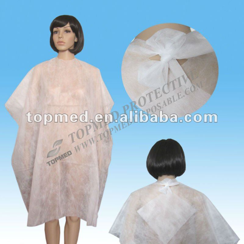 disposable hairdresser aprons wholesale plastic cape for hair cutting,disposable cutting gowns