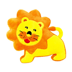 Skin friendly plush lion soothing baby soft toys with bell