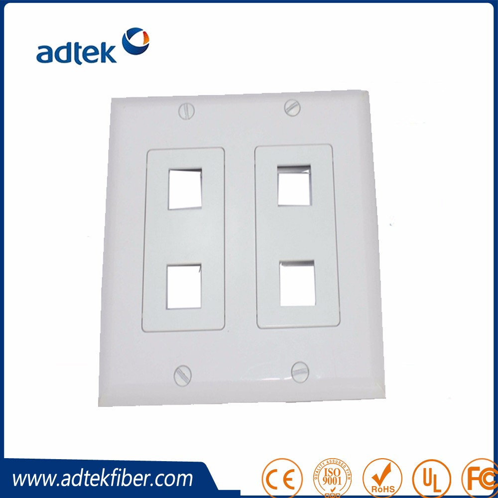 86*86 ABS 1 2 3 4 Port Dual Port Modular Wall Face Plate