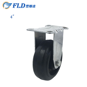 Wholesale factory directly sale 4 inch soild molded small rubber fixed caster wheels