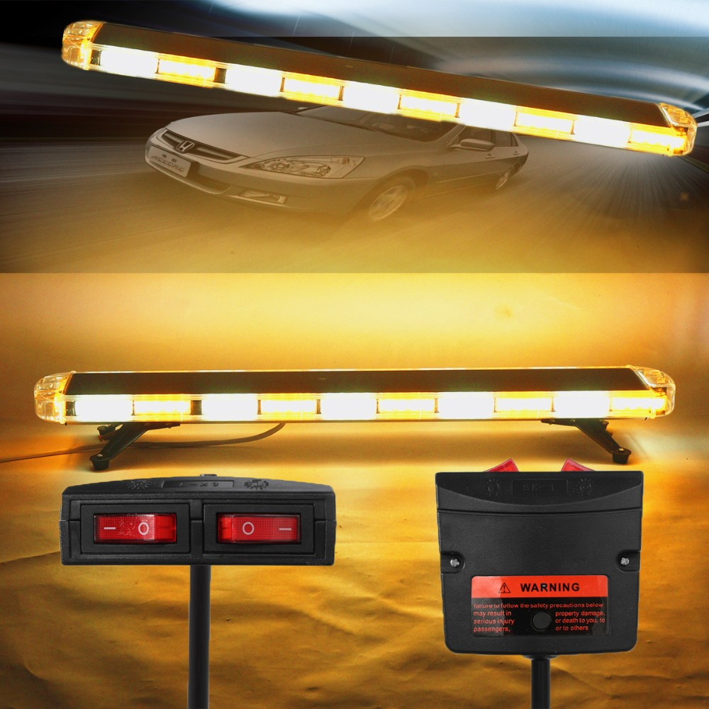 Amber road safety construction car tow truck 47 inch 88 led emergency strobe flashing warning double side light bar