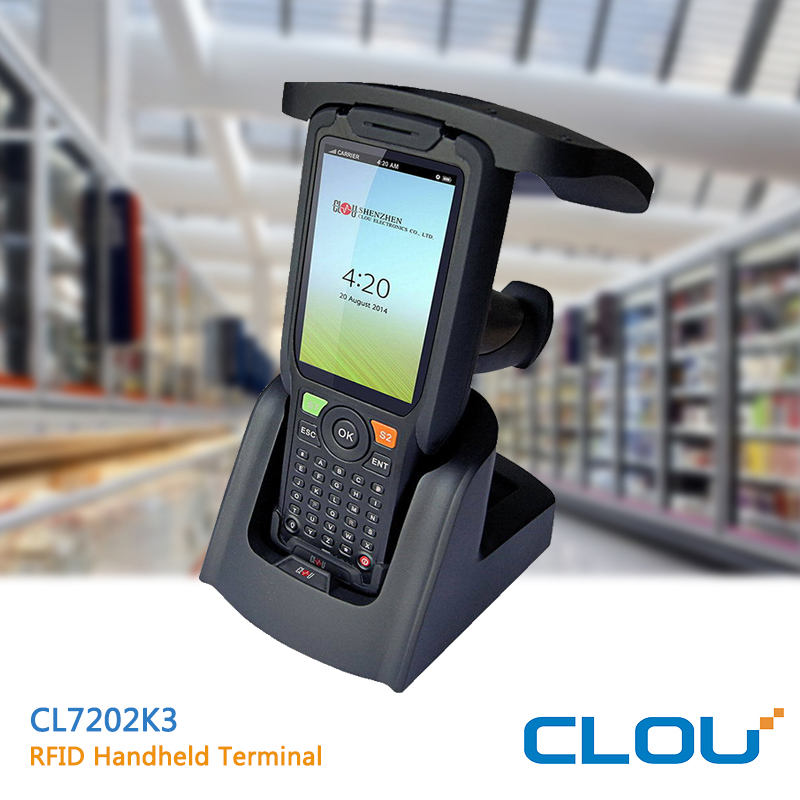 CLOU CL7202K3 Android 5.1 handheld terminal with UHF R2000 RFID reader and barcode reader