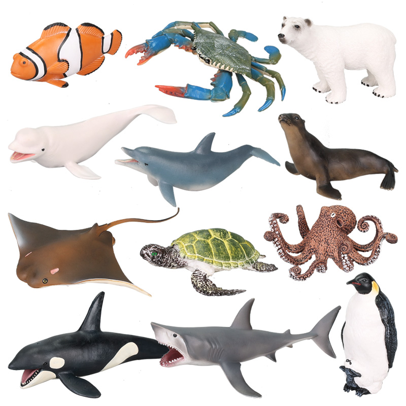 Toys & Hobbies Sunny 12 Pack Assorted Sea Animal Figures Turtle Crab Lobster Toys Party Favors Action Figures