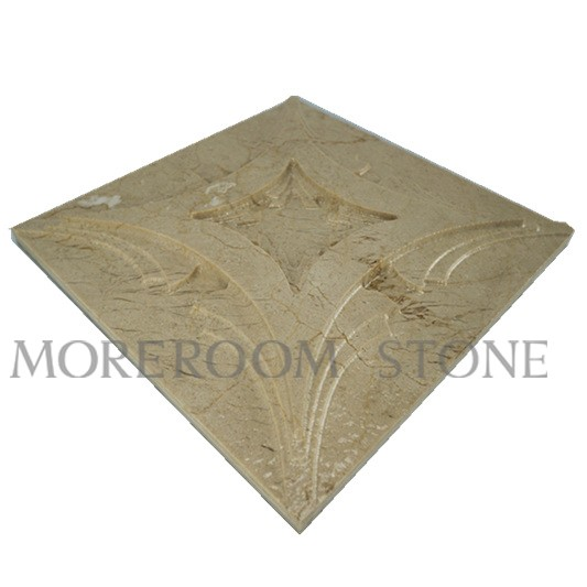 Chinese Beige Marble Cnc Wall Panels 3d Wall Panels
