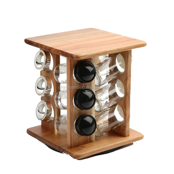 Kitchen Revolving Wooden Spice Rack - Buy Spice Rack,Spice Organizer,Spice  Holder Product on Alibaba.com